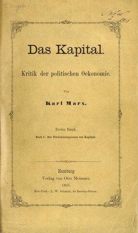 """Publicació de l'obra """"El Capital"""