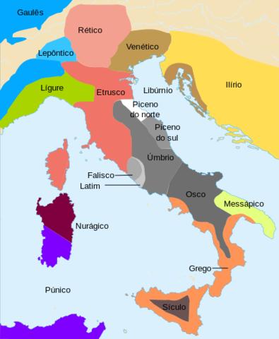 Séc. IX ou VIII a.C. - Registro mais antigo do aparecimento do latim