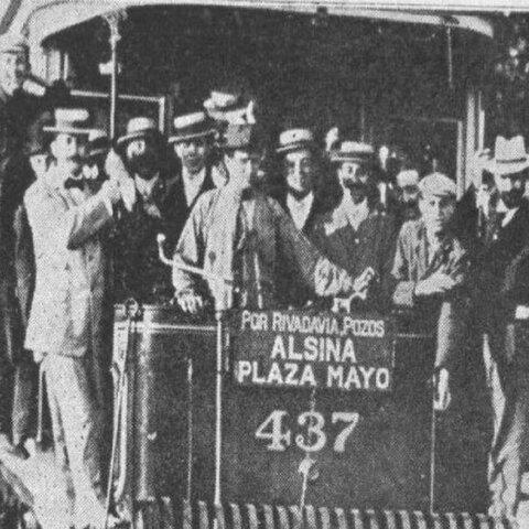 Inauguración de una línea de tranvía