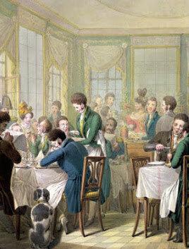 La inauguración  en París del primer restaurant a cargo de Boulanger