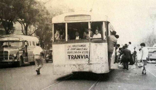 Desaparición del tranvía