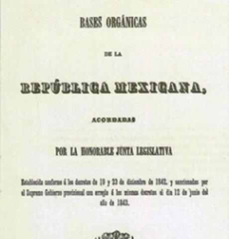 Bases orgánicas de la Republica Mexicana