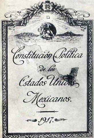 Se proclama Constitución de 1917