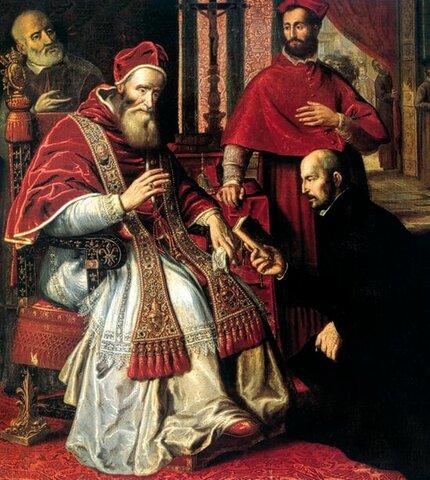 Fundación de la Contrarreforma de la iglesia a la reforma protestante de Martin Lutero. (1534)