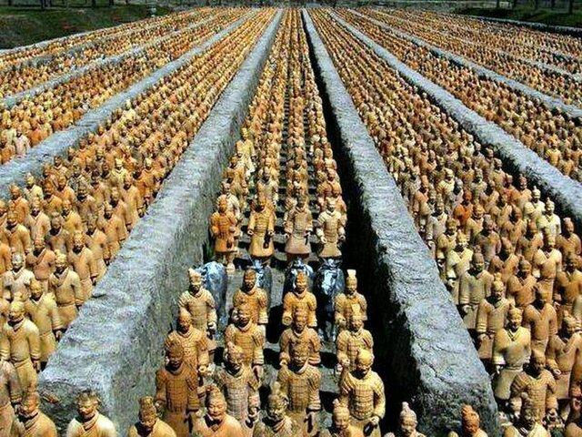 Descubrimiento de 8000 figuras de guerreros de la Dinastía Shi Hang (1974)