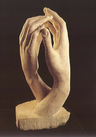 Manos de amantes, Rodin