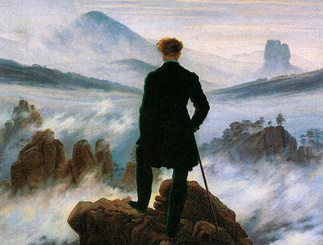 """""""El caminante sobre un mar de nubes"""", 1818. Friedrich ."""