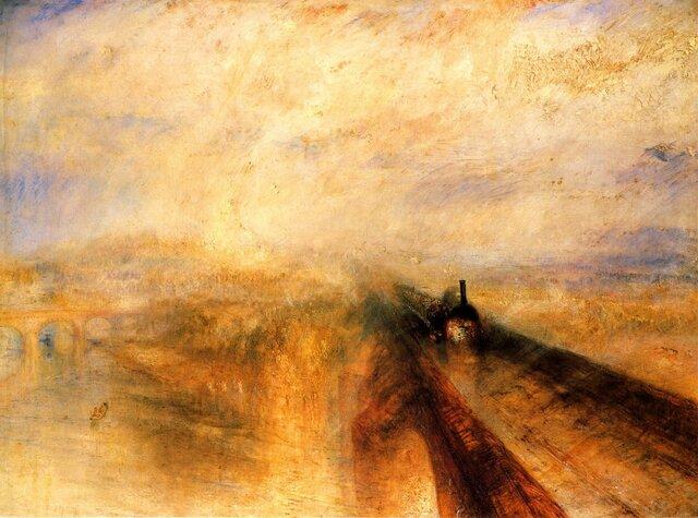 """Lluvia, vapor y velocidad"", 1844. Turner."