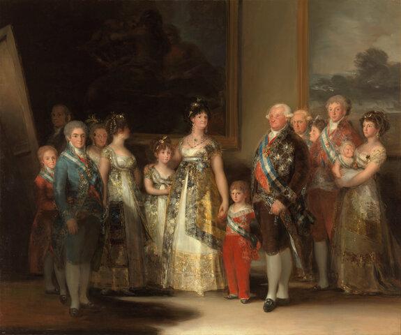 La familia de Carlos IV, 1800. Goya.