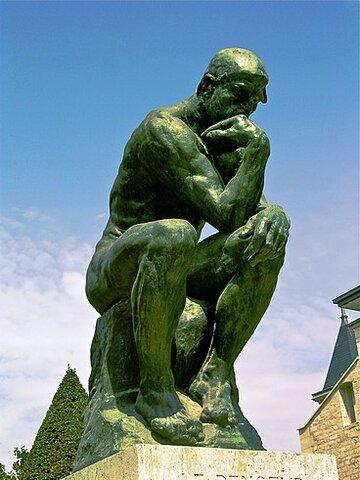 El pensador (1884). Rodin