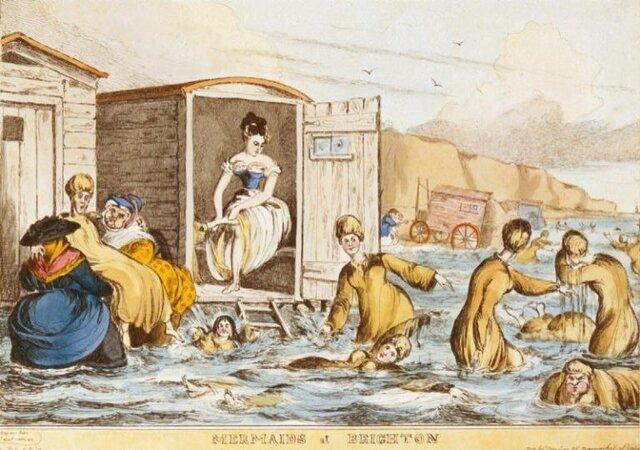 1830 PRIMI BAGNI AL MARE SULLA COSTA ROMAGNOLA. REGOLAMENTI PER LA SEPARAZIONE DEI SESSI