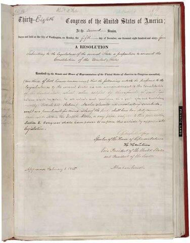•13th Amendment (1865)