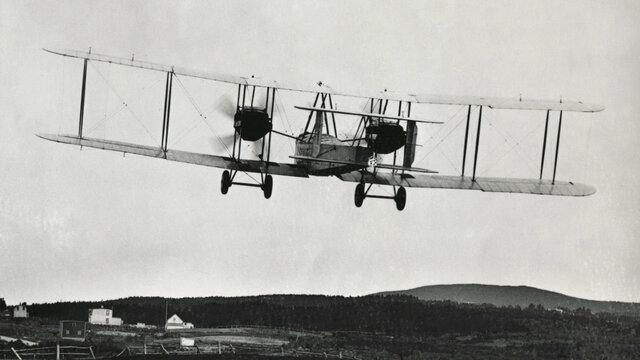 Primer vuelo sobre el Atlantico