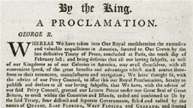 Proclamation Royal