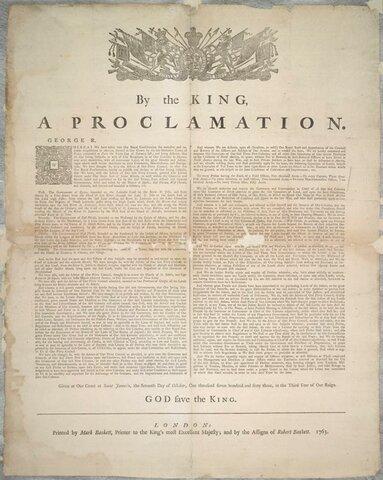 La Proclamation Royal
