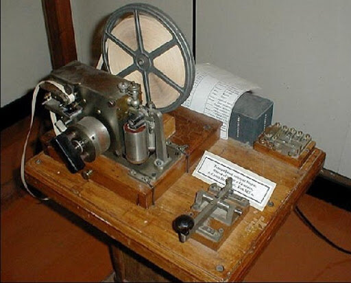 Изобретение Электромагнитного телеграфного аппарата.
