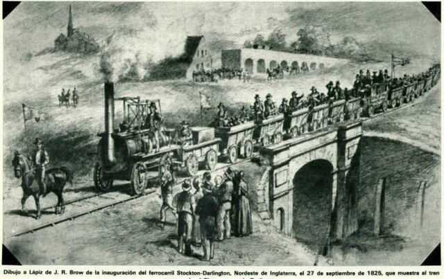 Inauguración 1ª Vía Férrea