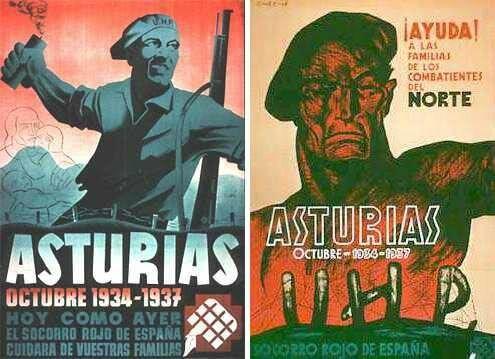 Inicio de la revolución en Asturias