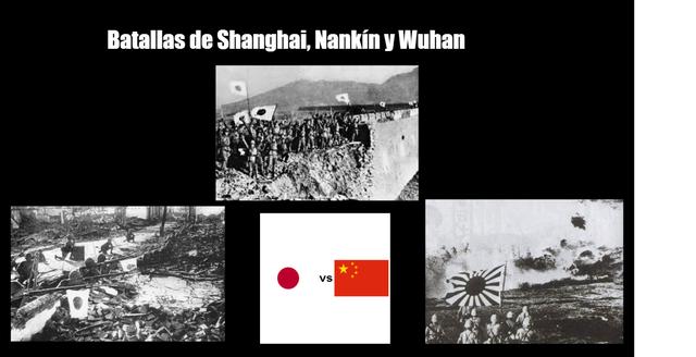 Batallas de Sanghai, Nakin y Wuham