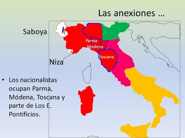 Anexión de los Estados de Parma, Modena y Toscana.