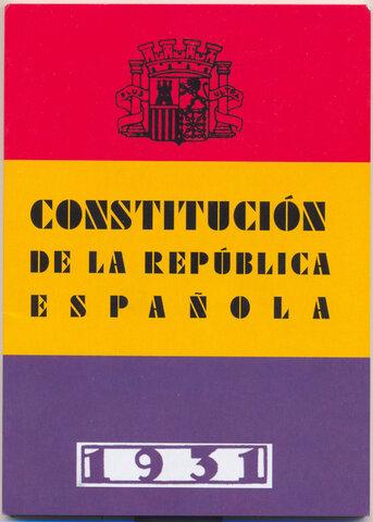 Niceto Alcalá Zamora President de la República i aprovació de la Constitució del 1931