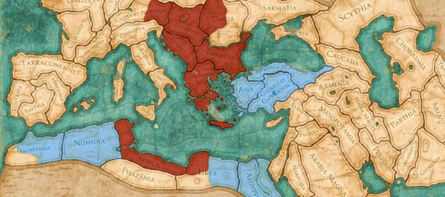 Rome splits into two empires