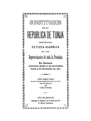 Constitución de la República de Tunja
