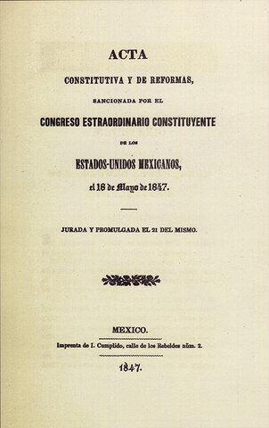 Reforma del Acta Federal