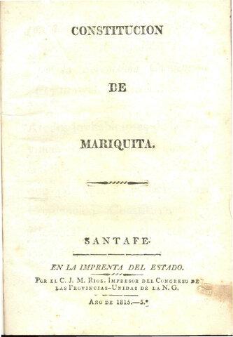 Constitución del Estado de Mariquita