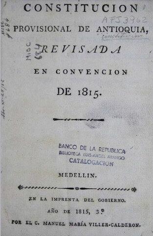 Constitución provincial de la Provincia de Antioquia