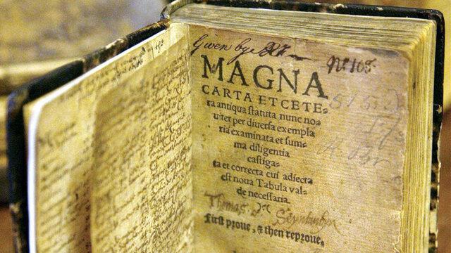 La carta magna inglesa, principio de la democracia moderna