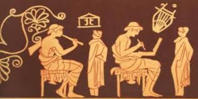 Escuela y educación ateniense.