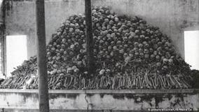 Cifras impactantes de muertos en Camboya (1979).