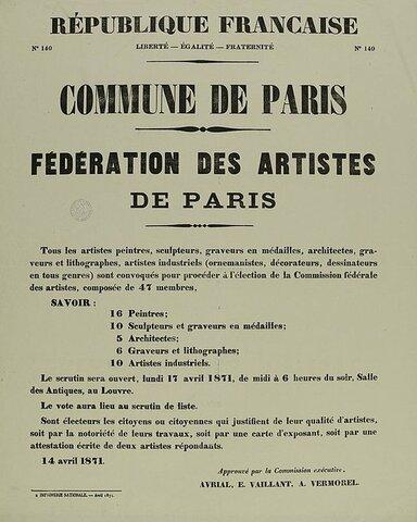 Manifesto of the Federation of Aritsts