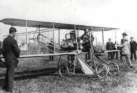 Primer vuelo de los hermanos Wrigth.