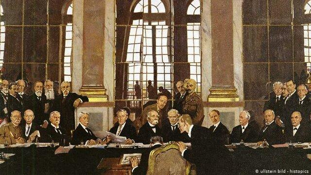 Tratado de Versalles. Se crea la sociedad de naciones.