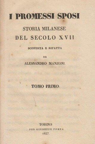 I promessi sposi, edizione del 1827