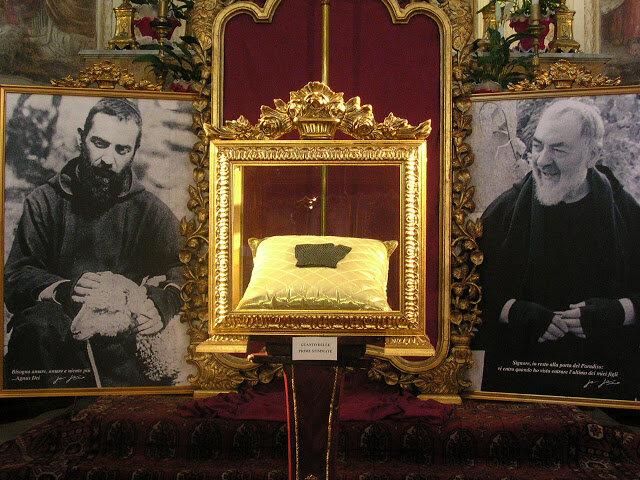 Imágenes emblemáticas y reliquias sagradas