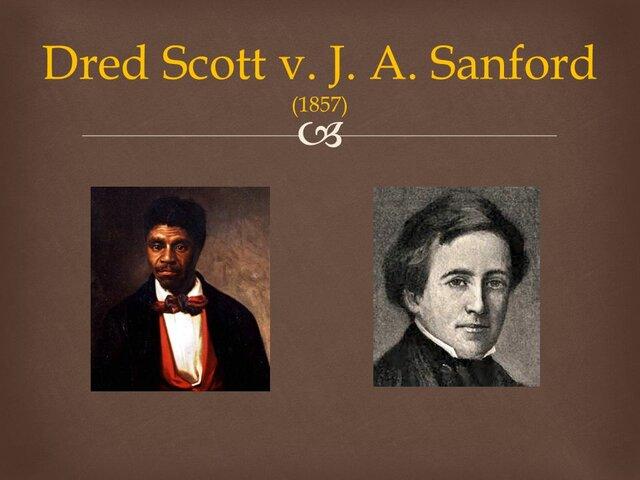 Dred Scott v Sandford
