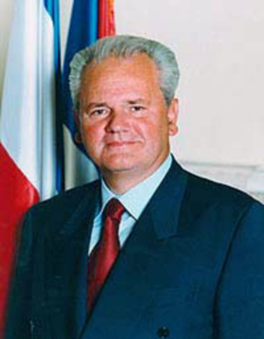 Slobodan Milsevic Becomes the  First President of Serbia
