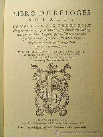 13. Libro de los Relojes solares.