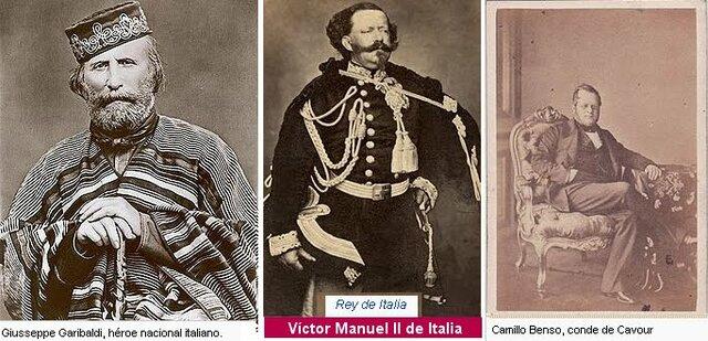 Forjadores de la unificación italiana