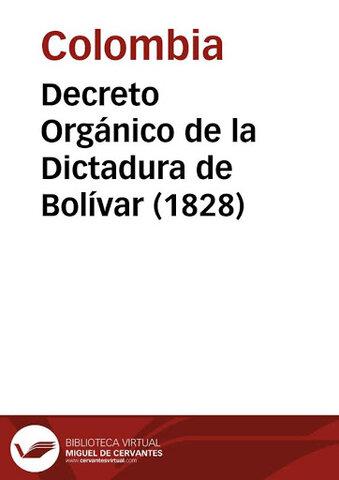 DECRETO ORGÁNICO DE COLOMBIA DE 1828