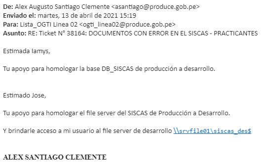 PASE A PRODUCCIÓN