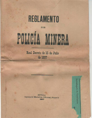 Reglamento de policía minera