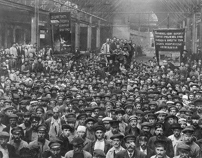 Huelga en la Fabrica de Putilov
