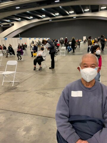 My parents are vaccinated at Moscone Center in SF.