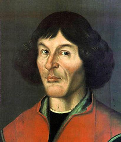 Nicolaas Copernicus publiceerde zijn boek over het zonnestelsel