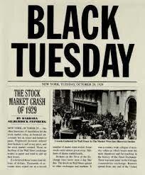 ○Crack de la Bolsa de Nueva York: inicio de una crisis económica mundial