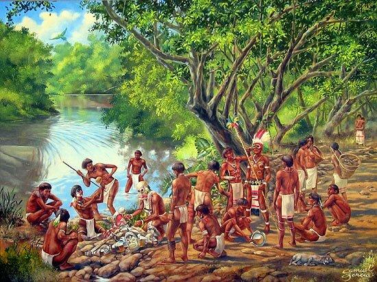 Los taínos se rebelan contra los españoles
